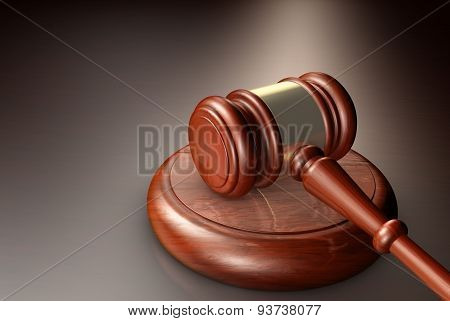Law Judge And Justice Gavel Symbol