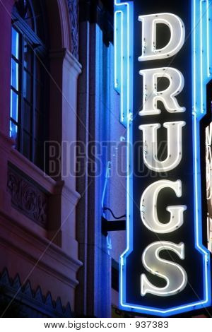 Drug Neon Sign