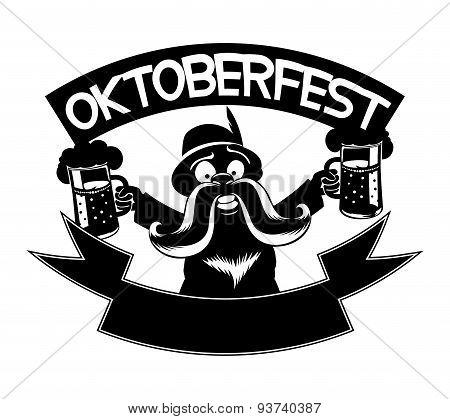 Vector sign. Oktoberfest.