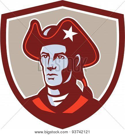 American Patriot Minuteman Head Crest Retro