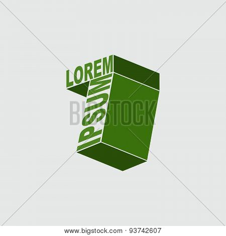 7 logo. Number seven. Vector design template elements