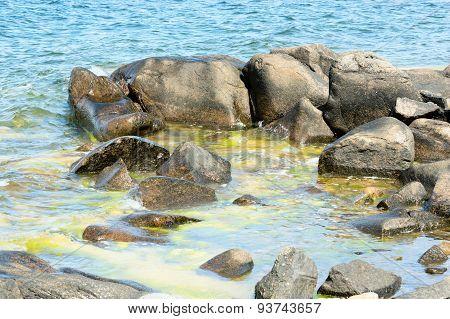 Boulders In Water