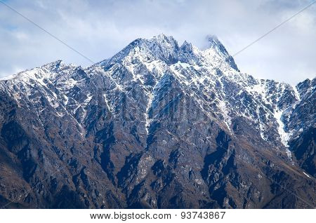 Rocky & Snowy mountain peak