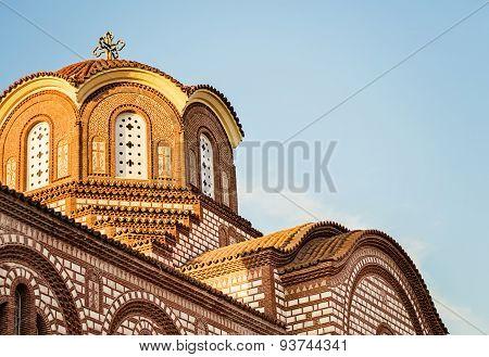 Christian church in small city in Halkidiki, Greece