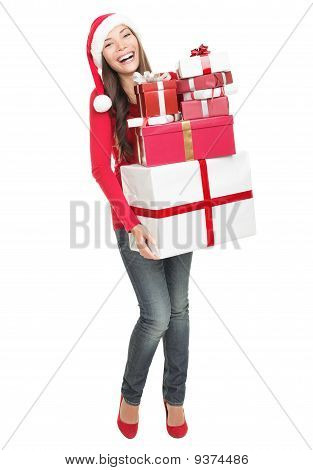 Christmas Woman Shopping Gifts
