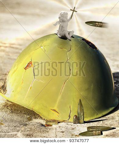 Angel On A Helmet