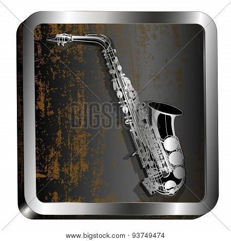 Steel Icon Saxophone Engraving