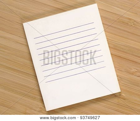 Clean shopping list on the bamboo background