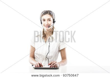 Young Woman Ready To Answer A Call