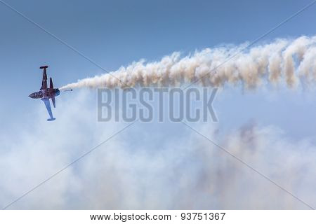 Poznan, Poland - June 14: Aerobatic Group Formation