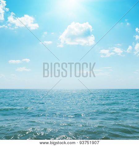 sunny day on seascape. sea, sky and sun