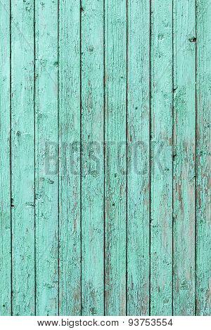 Green weathered wooden door texture