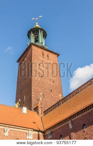 The Tower Of Stockholm City Hall. Stockholm, Sweden, Scandinavia, Europe