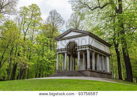 Greco-roman Temple In Forest