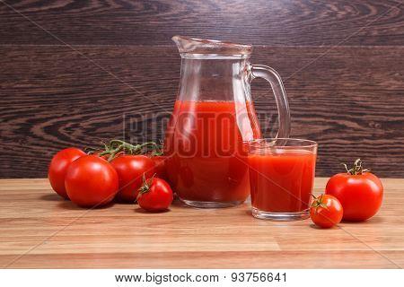 Tomato Juice In A Decante
