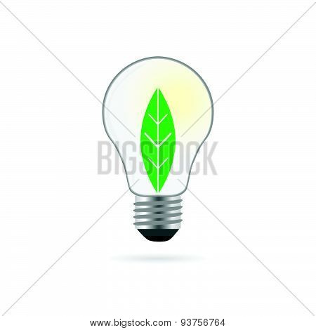 Eco Bulb With Plant Vector