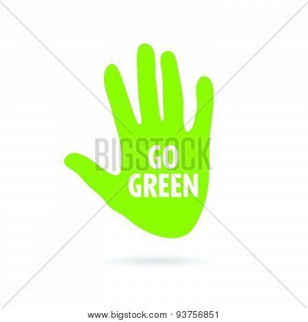 Hand Green Vector Illustration
