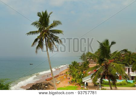 View Of The Samudra Beach In Kovalam