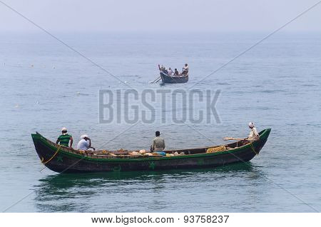 Fishing Boats In The Ocean