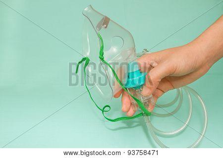 Nurse Holding An Oxygen Mask