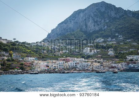 Positano, Italy - July 21: View of the town of Positano.