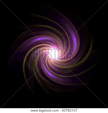 Twirl Of Flare Expose Purple Glow