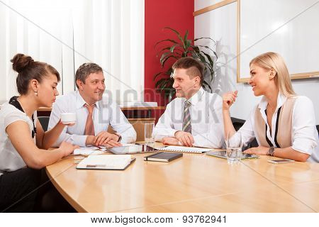 Small group business people meeting