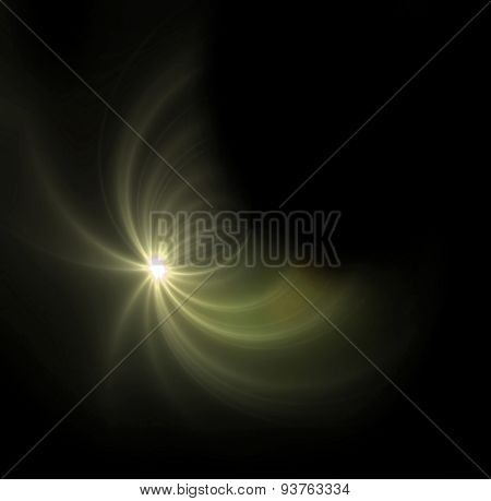 Yellow Light Expose Half Ring Flare