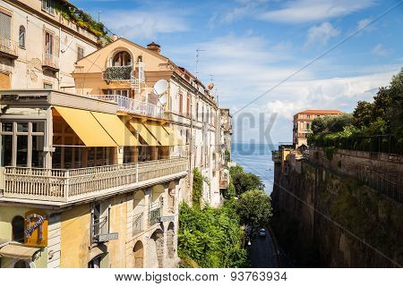Salerno, Italy - July 07: View of the streets town of Salerno