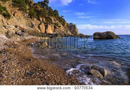 Beautiful, quiet bay on the Black Sea.