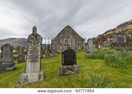 Graveyard Chapel Ault A Gruinn