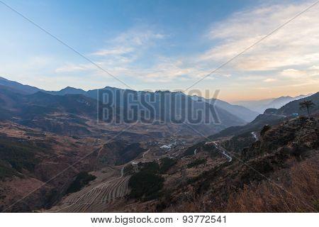 Twilight On Mountain