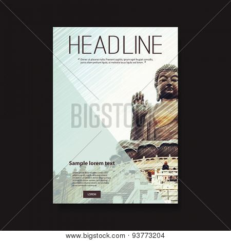 Flyer or Cover Design with A Picture of Buddha