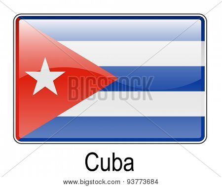 cuba official state button flag