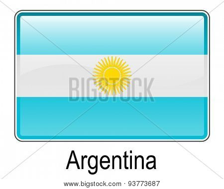 argentina official flag, button flag