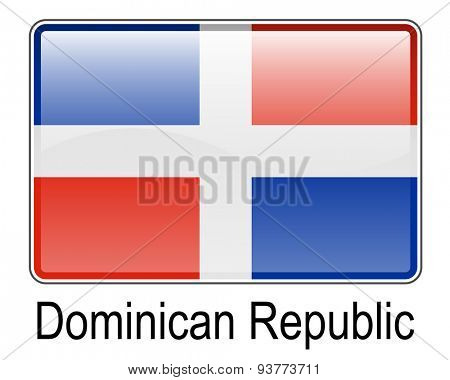 dominican republic official state button flag