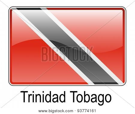 trinidad and tobago official state button flag