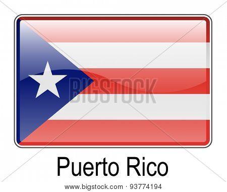 puerto rico official flag, button flag