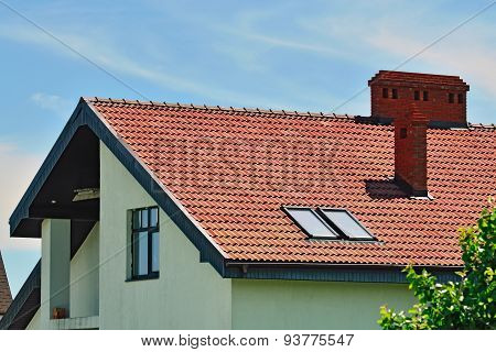 Roof Of The House With Attic