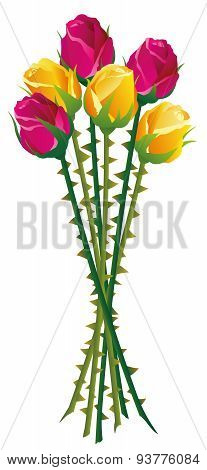Roses Thorns Bouquet