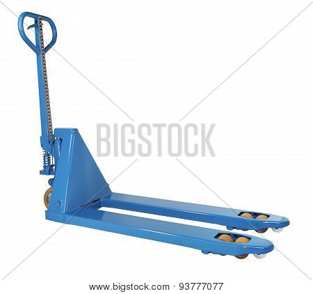 Blue Hydraulic Manual Hand Pallet Truck Stacker, Forklift Trolley