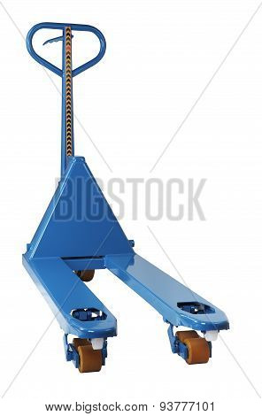 Blue Manual Hand Hydraulic Fork Pallet Truck