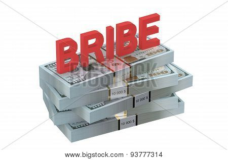Bribe Concept With Dollars