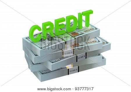 Credit Concept With Dollars