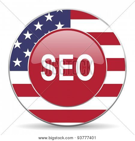 seo original american design modern icon for web and mobile app on white background