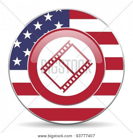 film american icon original modern design for web and mobile app on white background