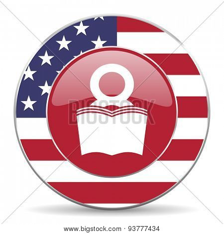 book american icon original modern design for web and mobile app on white background