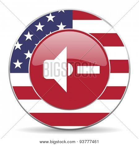 speaker volume original american design modern icon for web and mobile app on white background