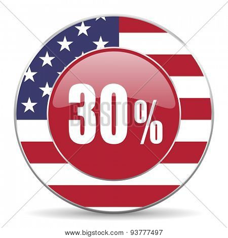 30 percent original american design modern icon for web and mobile app on white background