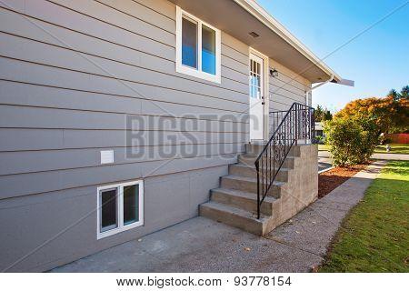 Side Door To Modern House.
